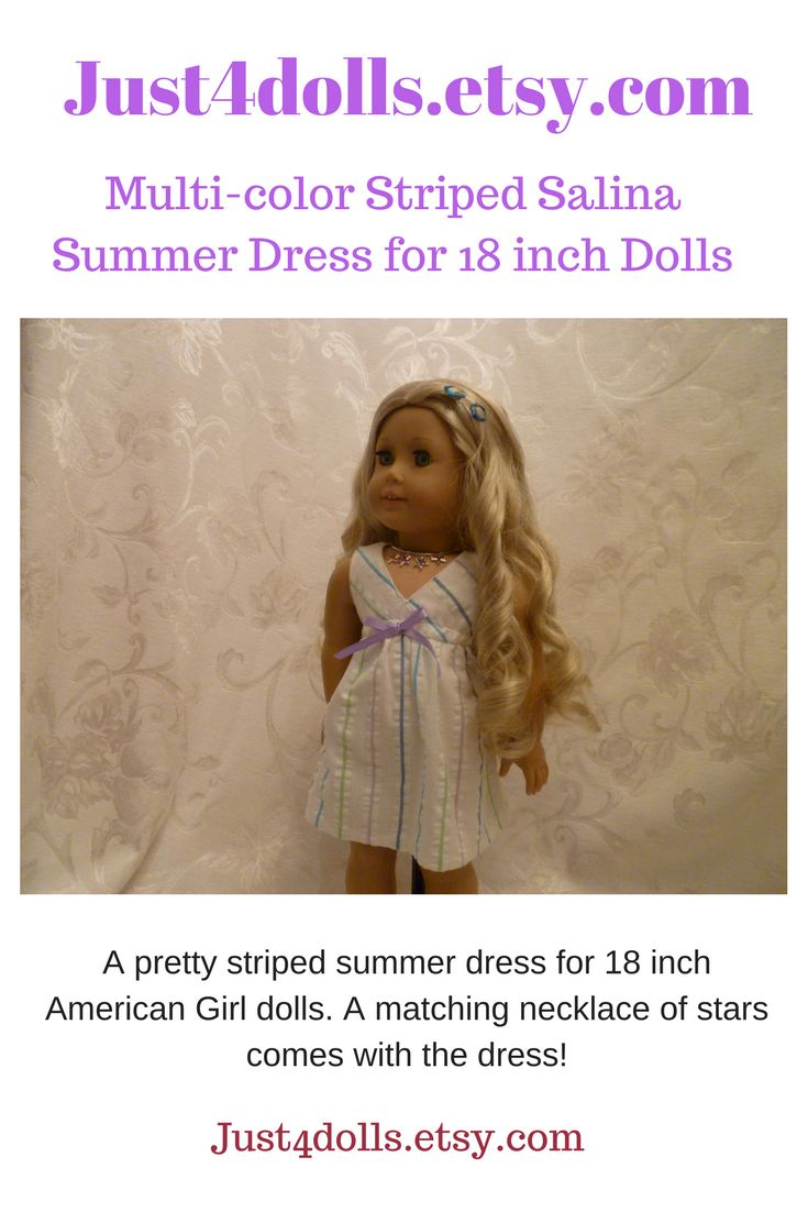 What a pretty summer dress to add to your doll's wardrobe! (scheduled via http://www.tailwindapp.com?utm_source=pinterest&utm_medium=twpin)