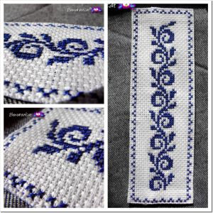 Cross stitch bookmark.
