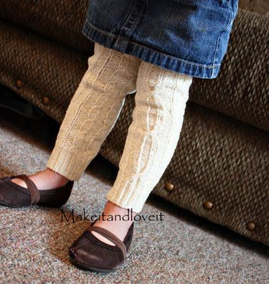 Baby leggings from a repurposed scarf...