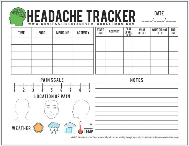 Helpful Migraine Tips and Printable Headache Tracker