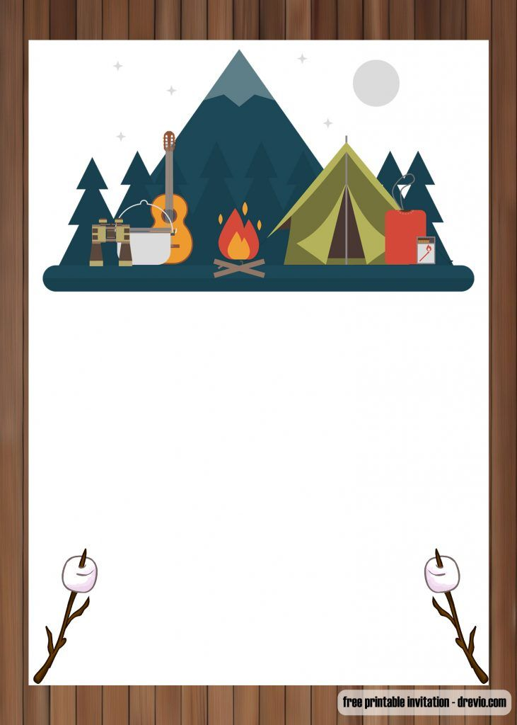 free printable outdoor camping birthday