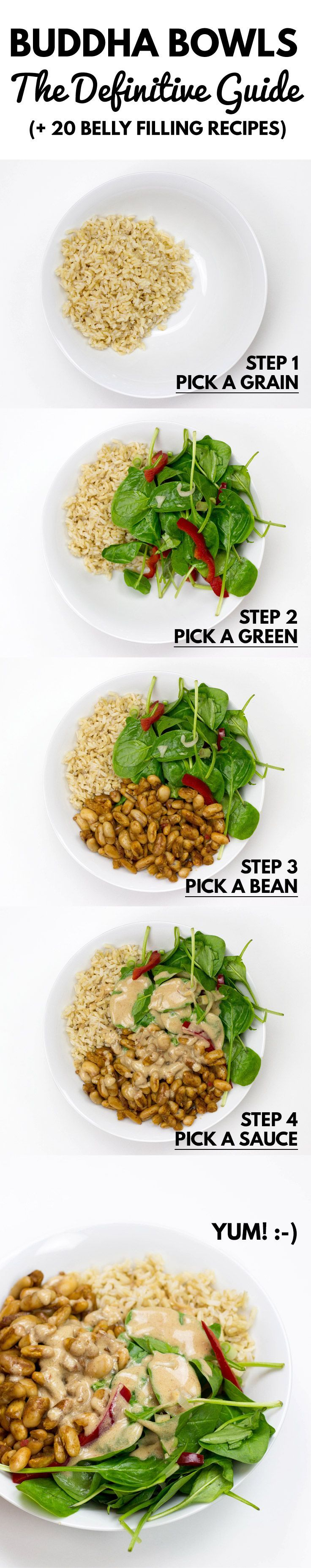 How to Make a Buddha Bowl - The Definitive Guide. (+ 20 Belly Filling Recipes) #vegan | hurrythefoodup.com