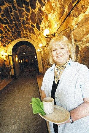 Cafe Krypta, hiden cafe in foundation of Helsinki Cathedral.