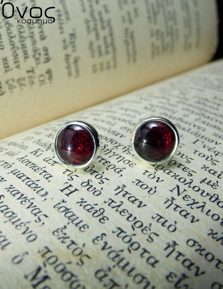 """ Passion Garnet "" - Χειροποίητα σκουλαρίκια από ασήμι 925 και Ημιπολύτιμους λίθους Γρανάτες!"