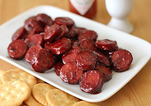 Pomegranate Glazed Sausage Bits
