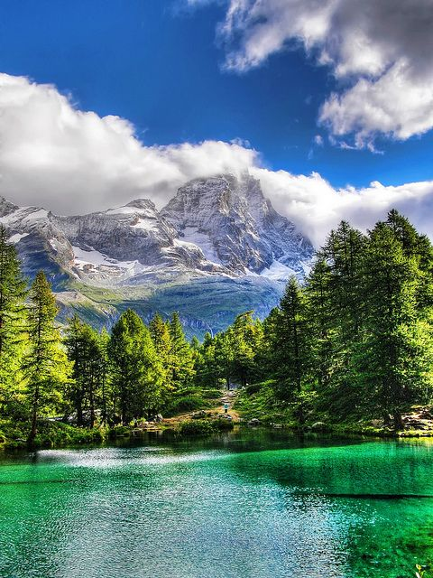 Blue Lake, Valle d'Aosta, Italy http://www.flickr.com/photos/14448041@N04/4951846334/