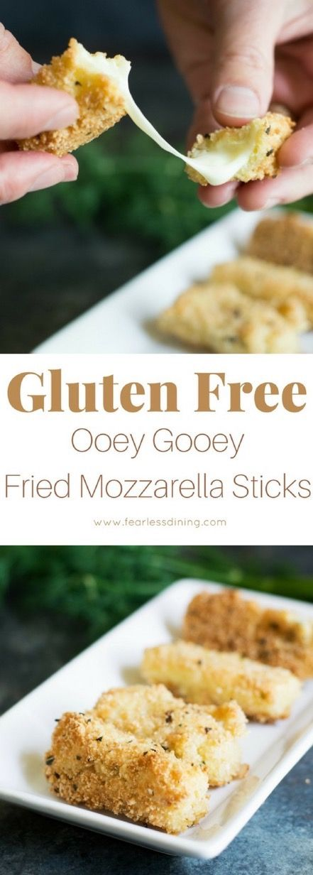 Easy gluten free fried cheese sticks. If you have missed fried cheese sticks since going gluten free, this recipe is for you!