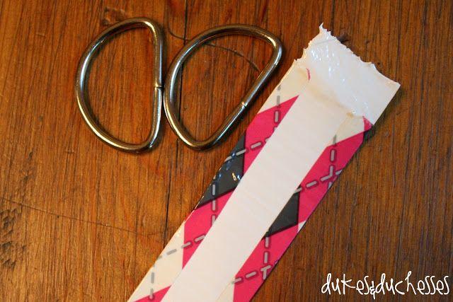 Riem van duct tape! In 15 minuten gemaakt. Bij elke outfit een passende riem. I like!