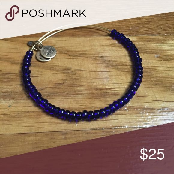 Alex and Ani Bracelet : blue beaded bangle Alex and Ani Bracelet : Blue beaded bangle Alex And Ani Jewelry Bracelets