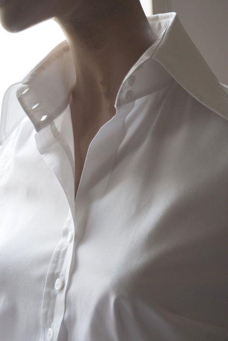 Getailleerde witte blouse merk Vittorio Marchesi