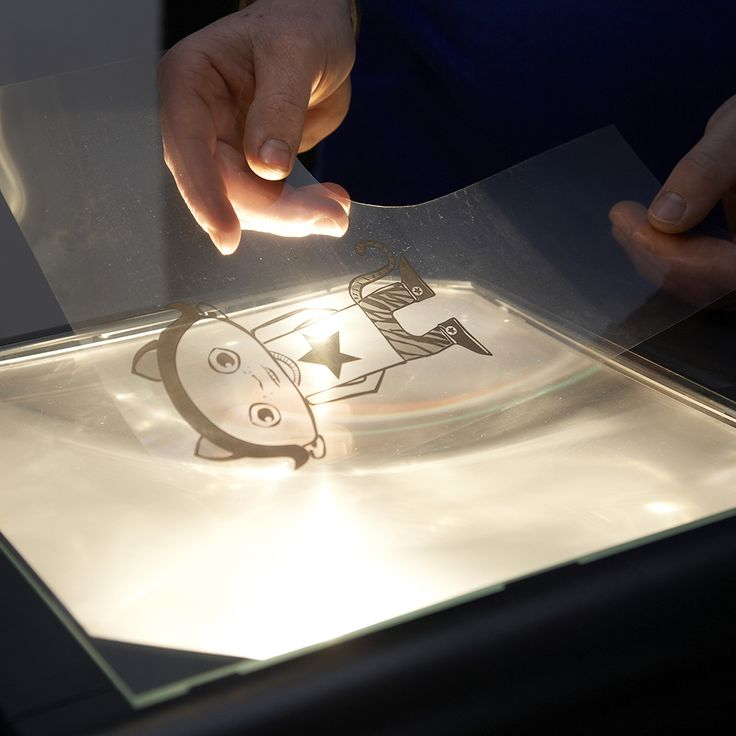 Muurschildering tekening op de projector