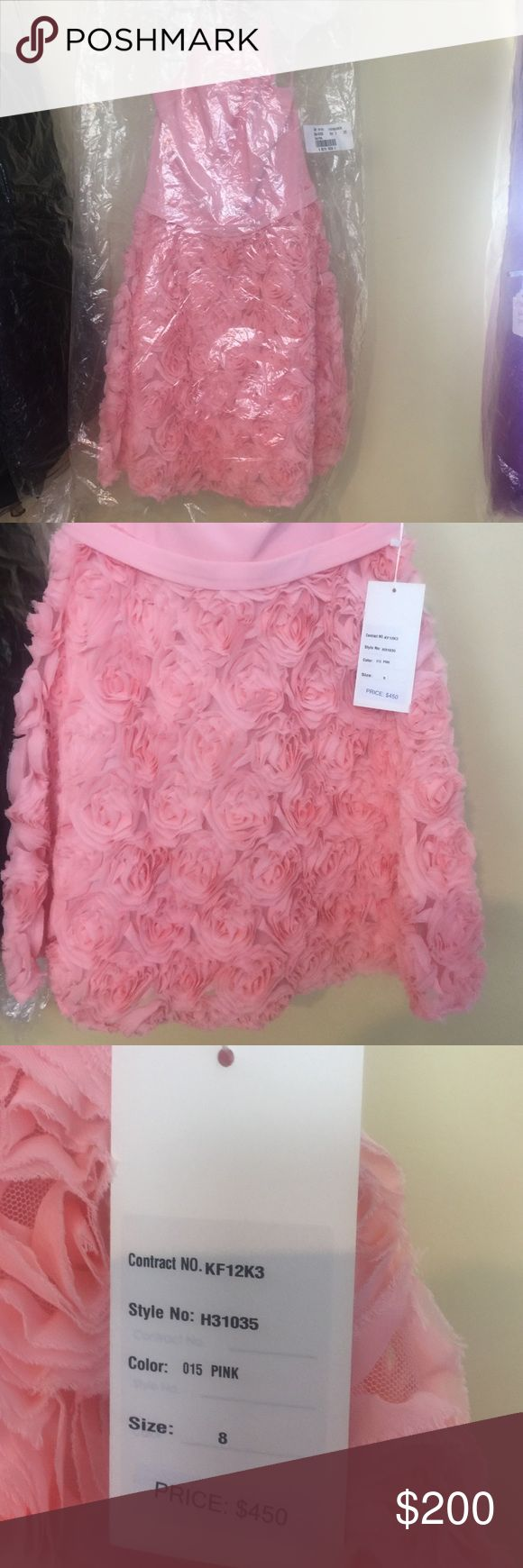 Brand new Beautiful Kathy Hilton  Dress!  👗👗 Short Pink new Kathy Hilton Dress. Four straps at top and flowered bottom. Beautiful dress. Kathy Hilton Dresses
