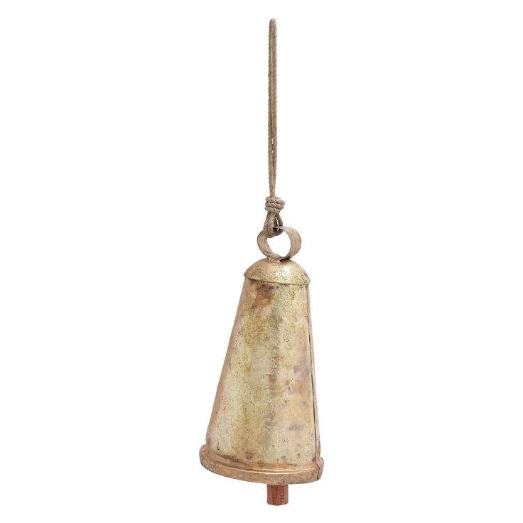 Decmode Iron Cone Cowbell Wind Chime 26833 Cowbell