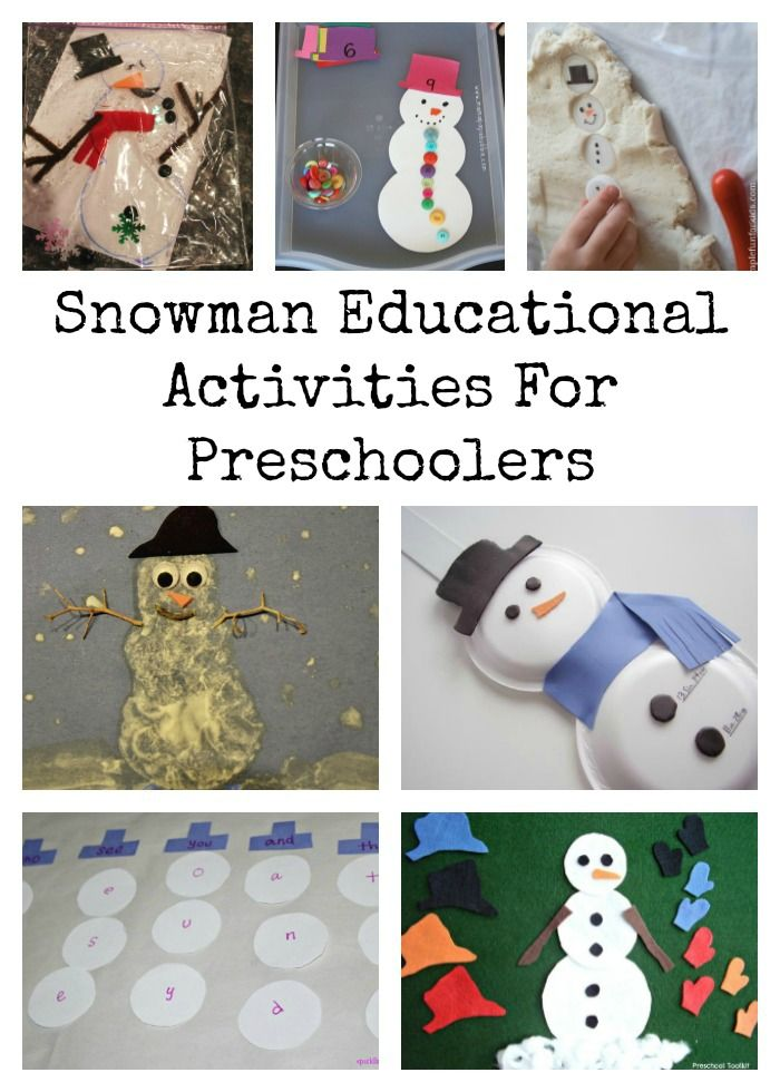 20 snowman educational activities for preschoolers for Educational crafts for preschoolers