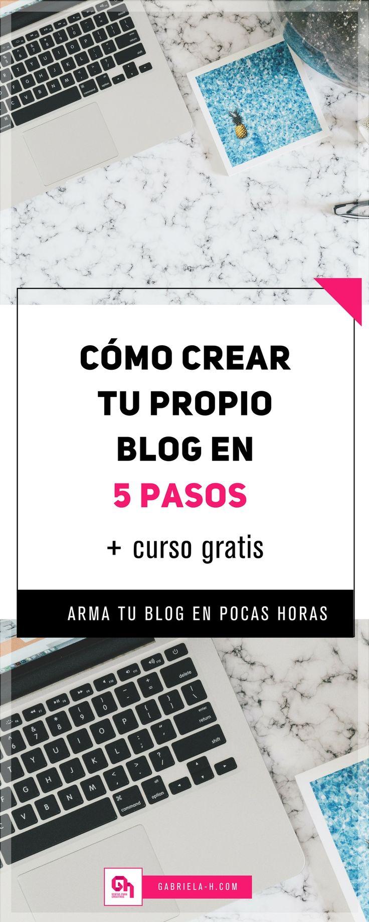 Al fin te decidiste a hacerte un blog, ¿eh? En este post te comparto un tutorial simple con el que podrás crear tu blog siguiendo 5 pasos. https://www.gabriela-h.com/blog/blog-en-5 #emprendedoras #mujeresemprendedoras #bloggingtips #wordpress