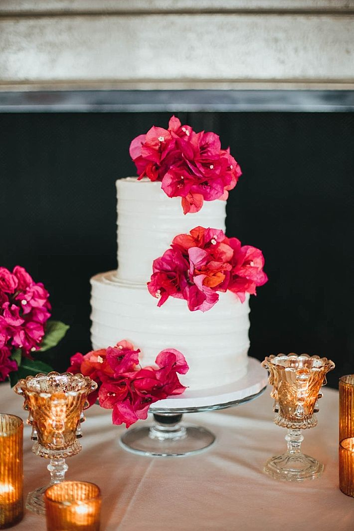 A Bel Air Bay Club Wedding with Pink Bougainvillea by Sarah Sotro Photography | Southern California Bride