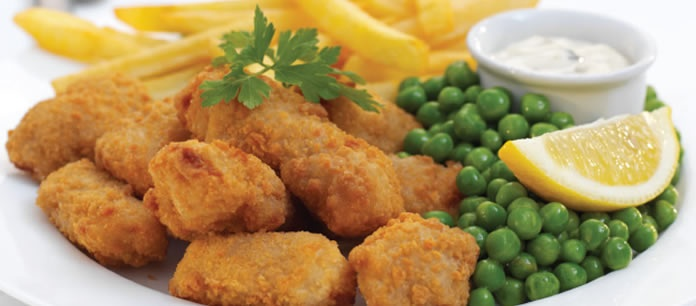 Sign up to get FREE Scampi & Chips when you buy any drink