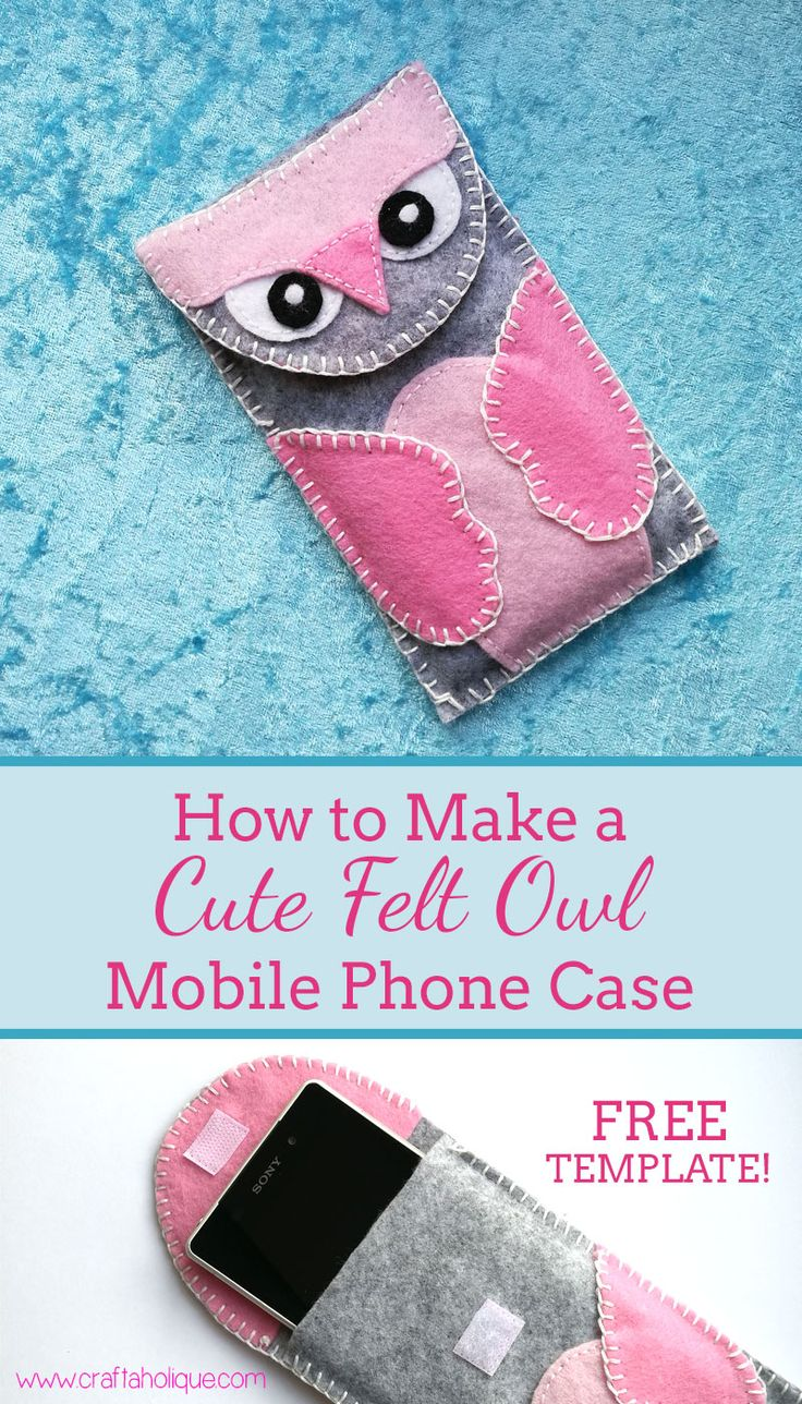 The pin junkie how to make paper bluebonnets - Cute Felt Owl Phone Case This Is An Easy Sewing Project That Can Be Made