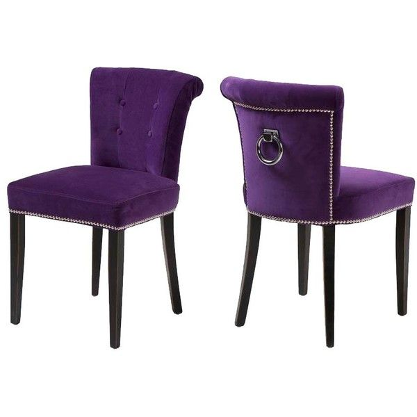 Eichholtz Key Largo Chair Purple Velvet 480 Found On Polyvore