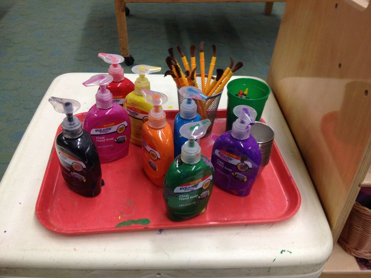 Paints children can pump independently… Where has this been for the last 5 years?: Paintings Pumps, Hands Soaps, Soaps Provide, Art Class, Schools Art, Classroom Organizations, Elementary Schools, Genius Hacks, Art Rooms