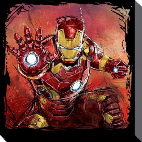 Toile Iron Man Art - Avengers : L'Ère d'Ultron