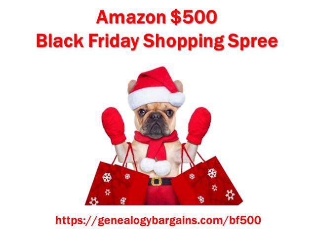 Enter the Amazon $500 Black Friday Shopping Spree