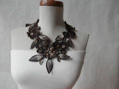 Eco Friendly Brown Collar Necklace