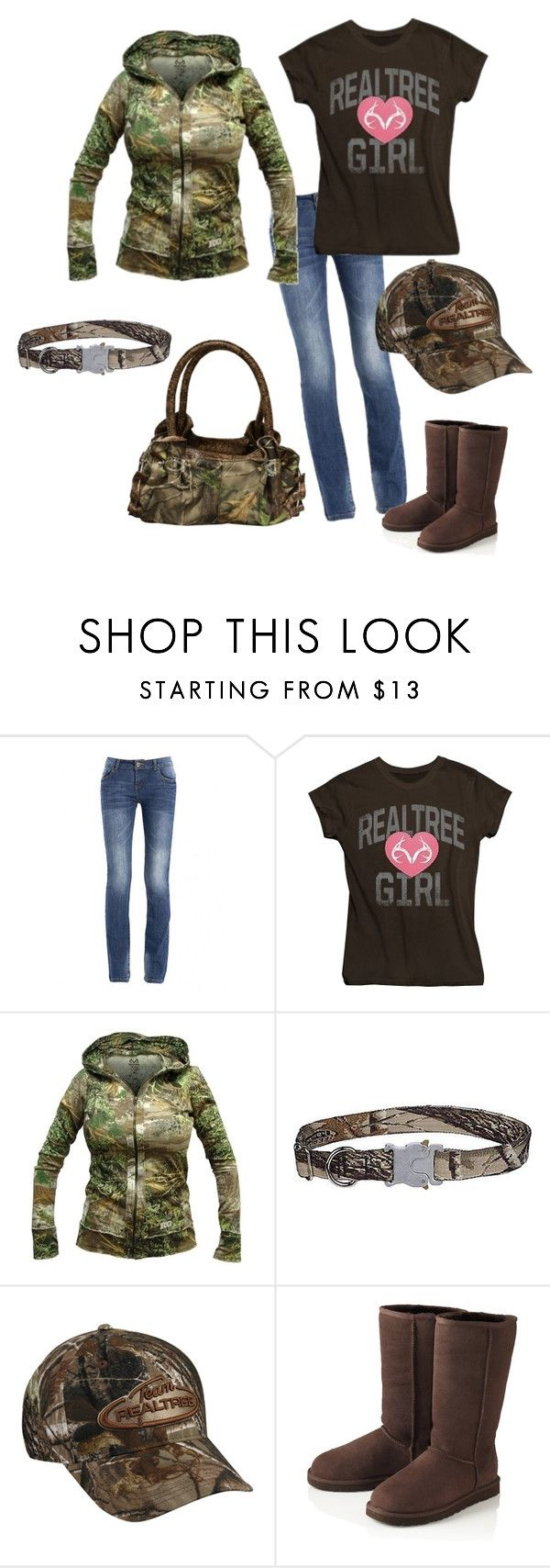 """""""Realtree Camo Wear"""" by sonia-winland ❤ liked on Polyvore featuring Realtree, UGG Australia, realtree camo, camo gear and realtree"""