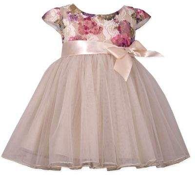 a1a53573c Size 3-6M Floral Sparkle Lace Ballerina Dress in Ivory #Dress#Ballerina# Bonnie