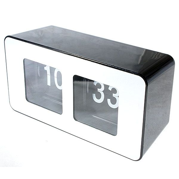 Flip Digit Desktop Clock (Black)