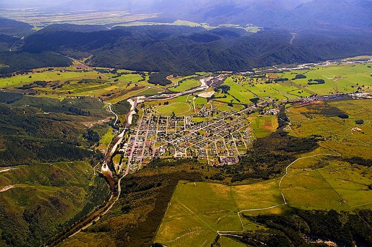 Reefton, neatly laid town, see more, learn more, at New Zealand Journeys app for…