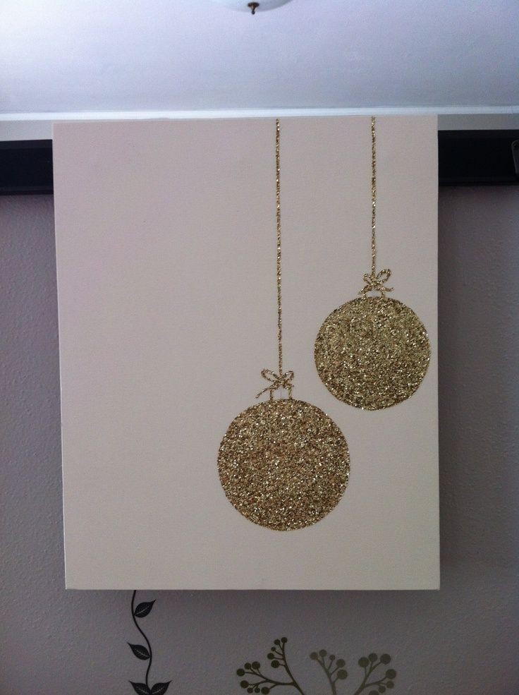 christmas glitter canvas | Glitter Ornament Canvas >>> Living Room