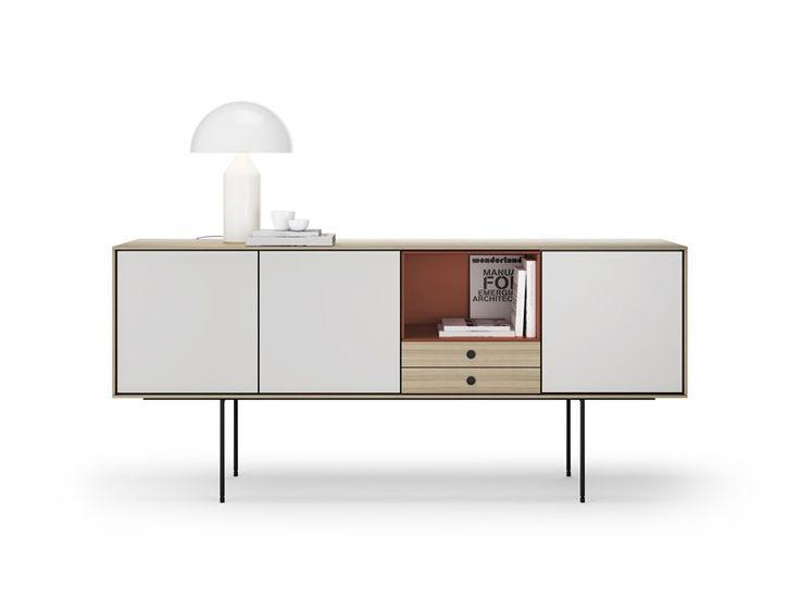 Lackiertes Sideboard aus Holz Kollektion Aura by TREKU | Design Angel Martí, Enrique Delamo