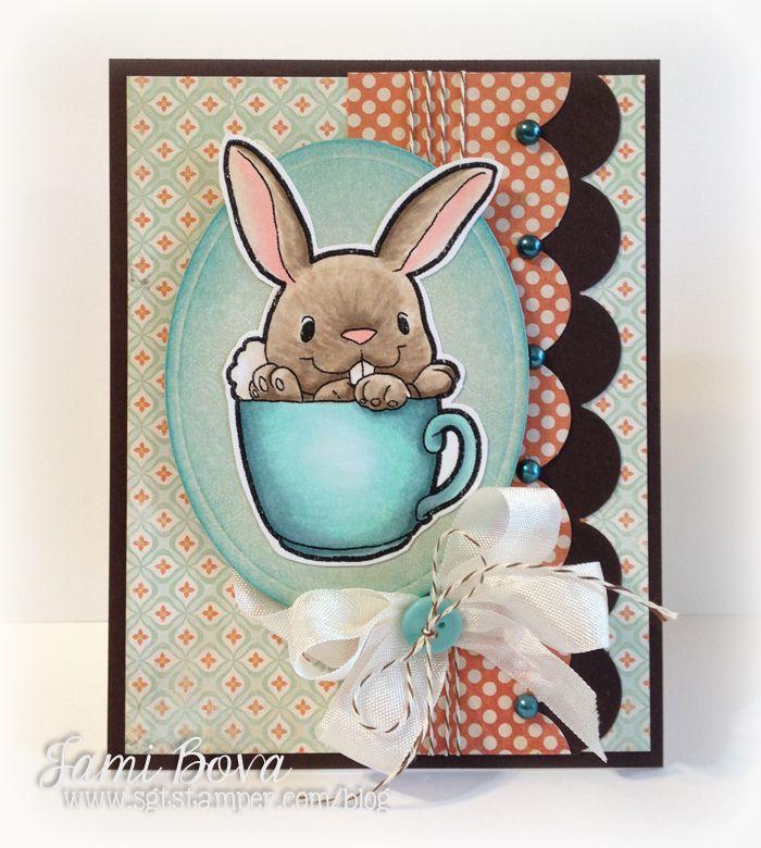 Some Odd Girl - teacup bunny http://sgtstamper.com/blog/ #SomeOddGirl #SOG #copic
