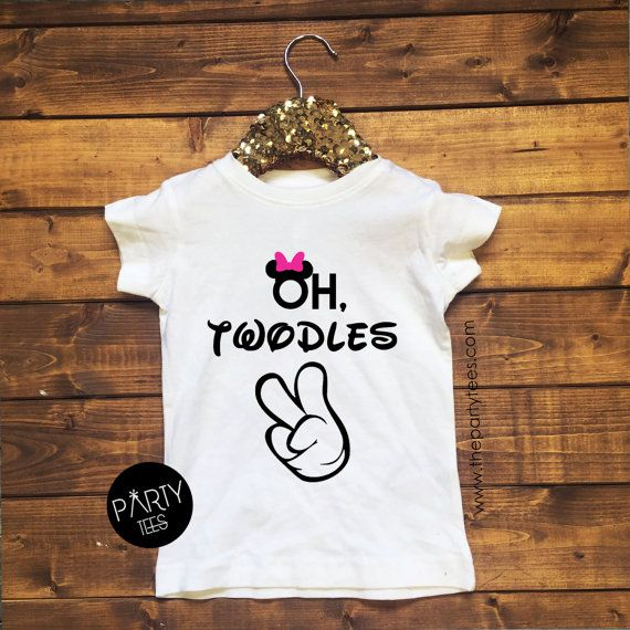 oh twodles girls disneyminnie Birthday Shirt 2 year by PartyTees