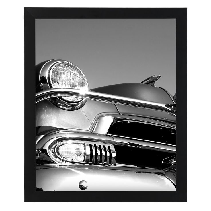 Americanflat 18 x 24-inch Smooth Black Wood Finish 1-inch Wide Plexi Picture Frame (EE1824BKPC), Size 18x24 (MDF)