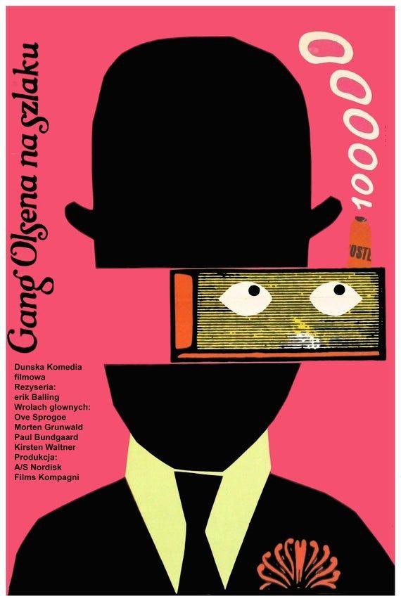 Czech decor Graphic Design movie Poster 4 film DEAD man.Room Wall modern art