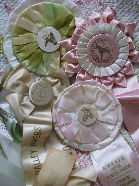 Vintage horse ribbons by Maison Douce, via Flickr