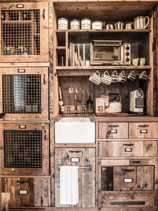 Dream kitchenette styling -The travel destination in England - Soho Farmhouse - it's the new hipster place to stay while in the country!