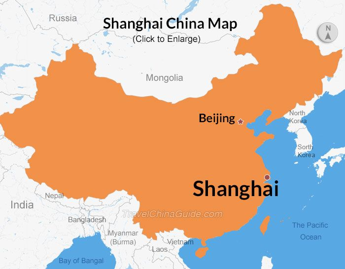 Shanghai Location In China Map