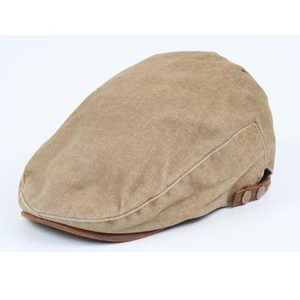 For Men Style Hat ,Cotton Beret Brown Gatsby-Look Newsboy Ivy Cap Cabbie