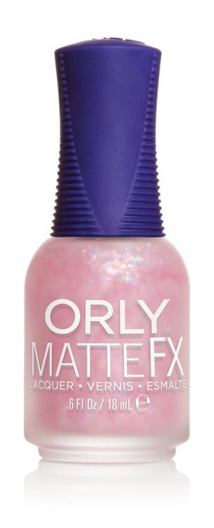 ORLY Pink Matte Glitter Flackie TopCoat della ORLY MATTE FX Collection.  www.smaltiorly.it