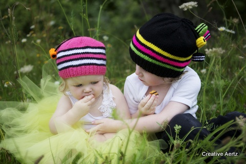 Gorgeous Licorice Allsorts Hat (Your Choice of Colour)