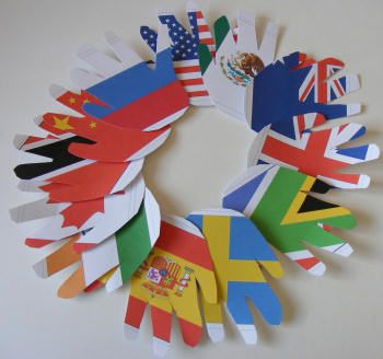 International Flag Wreath Craft! #olympics