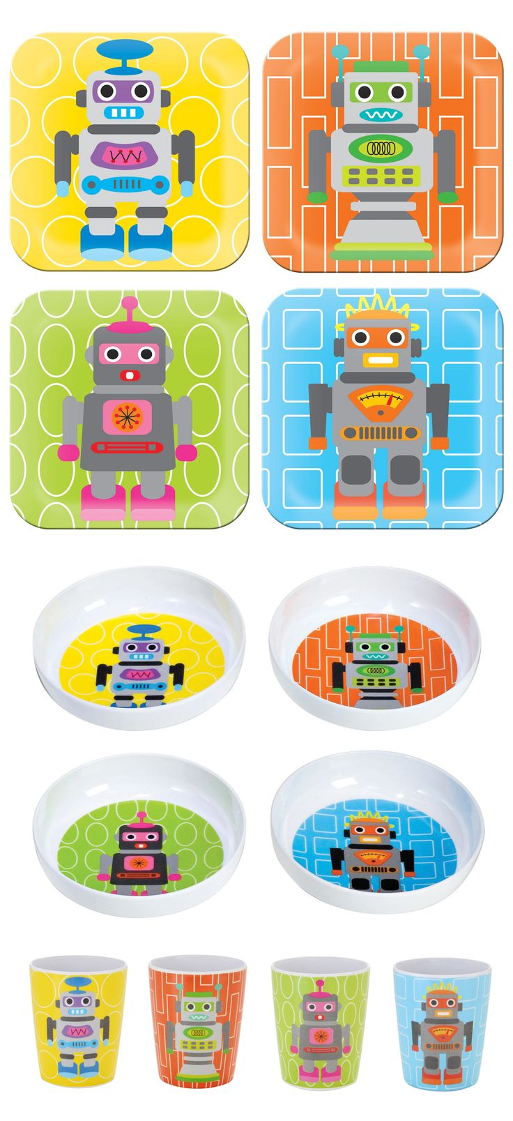 best kids images on pinterest  target sleepover and tray - french bull robot collection melamine kids plates kids bowls kids juicecups