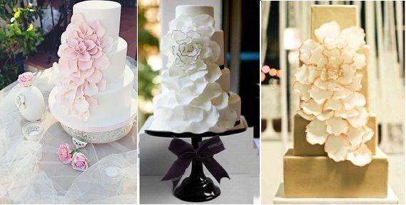 Falling Petals Wedding Cake - Top Wedding Cake Choice for 2014 Brides