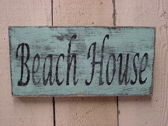 BEACH HOUSE SIGN / large turquoise vesion / shabby beach cottage chic / beach house decor / rustic beach decor
