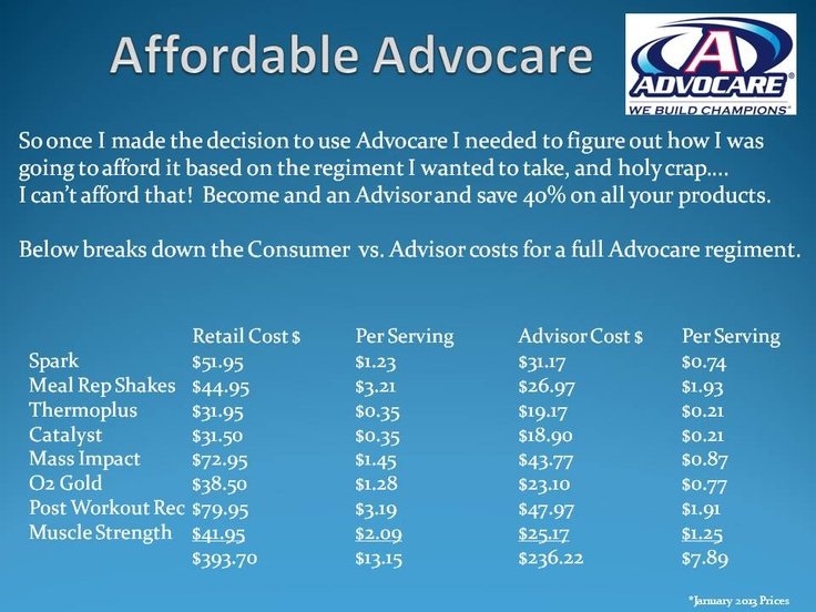 Affordable Advocare #Advocarepintowin2013 www.advocare.com/150394623 Way more affordable than any other products on the market & much better for you!