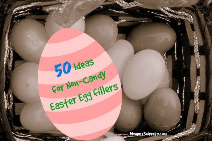50 Ideas for Non-Candy Easter Egg fillers - Mommy Snippets