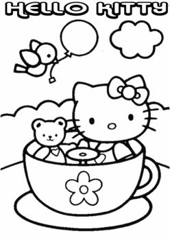 Hello Kitty Free Coloring Printables and more